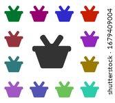 shopping basket multi color...