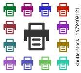 printer multi color style icon. ...