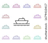 ship multi color style icon....