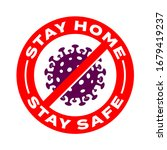 stay home  stay safe... | Shutterstock .eps vector #1679419237