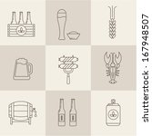 beer icons set vector | Shutterstock .eps vector #167948507