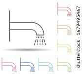 shower outline in multi color...