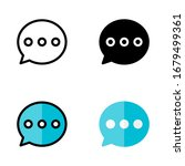 chat icon with outline  glyph ...