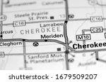 Meriden. Iowa. USA on a map
