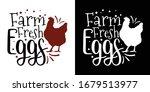 farm fresh eggs printable...   Shutterstock .eps vector #1679513977