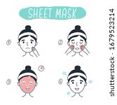 steps how to apply facial... | Shutterstock .eps vector #1679523214