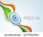 stylish indian republic day... | Shutterstock .eps vector #167952431