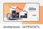 oil barrels and downward chart... | Shutterstock .eps vector #1679537671