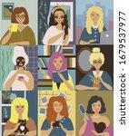 vector women character...   Shutterstock .eps vector #1679537977