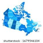 canada map. cities regions... | Shutterstock .eps vector #1679546104