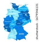 germany map. cities regions... | Shutterstock .eps vector #1679546131