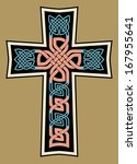 celtic medieval cross   Shutterstock .eps vector #167955641
