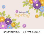 welcome spring web banner of... | Shutterstock .eps vector #1679562514