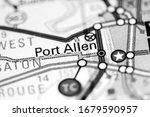 Port Allen. Louisiana. USA on a map