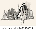 Man Standing On New York...