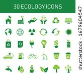 30 green ecology icon set.... | Shutterstock .eps vector #1679604547