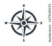 compass flat icon with north ... | Shutterstock .eps vector #1679630191
