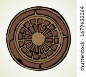round manhole cover. vector... | Shutterstock .eps vector #1679632264