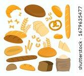 bread and pasta set vector... | Shutterstock .eps vector #1679635477