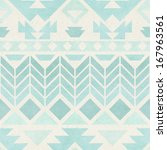 seamless ikat pattern on paper... | Shutterstock . vector #167963561