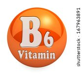 vitamin b6  isolated on white...
