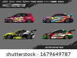 car wrap graphic livery design... | Shutterstock .eps vector #1679649787