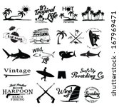 surfer vector set. | Shutterstock .eps vector #167969471