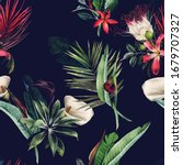 seamless floral pattern with... | Shutterstock . vector #1679707327