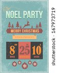 christmas party flyer poster... | Shutterstock .eps vector #167973719