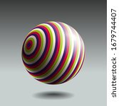 color striped sphere with... | Shutterstock .eps vector #1679744407