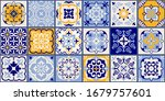 collection of 18 ceramic tiles... | Shutterstock .eps vector #1679757601