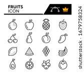 fruits line icons set. editable ... | Shutterstock .eps vector #1679758324