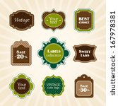 green vintage labels | Shutterstock .eps vector #167978381
