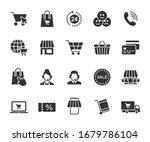vector set of online shopping... | Shutterstock .eps vector #1679786104