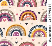 seamless pattern with beautiful ...   Shutterstock .eps vector #1679798854