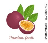 passion fruit isolated on a... | Shutterstock .eps vector #1679803717