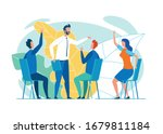 creative trainees or company... | Shutterstock .eps vector #1679811184