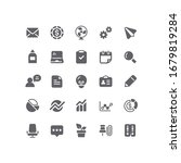 outline business   office icons | Shutterstock .eps vector #1679819284