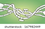 spaghetti like metal pipes with ... | Shutterstock .eps vector #167982449