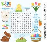 easy word search crossword...   Shutterstock .eps vector #1679825614