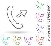 outgoing call multi color icon. ...