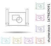 colored plan multi color icon....
