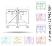 colored 3d printer multi color...