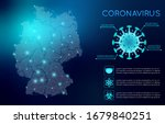 corona virus covid 19 germany ... | Shutterstock .eps vector #1679840251