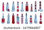 sea lighthouse vector isometric ... | Shutterstock .eps vector #1679866807