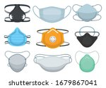 medical mask isolated cartoon... | Shutterstock .eps vector #1679867041