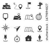 map icon set isolated on white... | Shutterstock .eps vector #1679894827