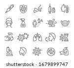 flu icons set. collection of... | Shutterstock .eps vector #1679899747