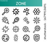 zone line icon set on theme... | Shutterstock .eps vector #1679913691