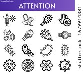 attention line icon set on... | Shutterstock .eps vector #1679914381